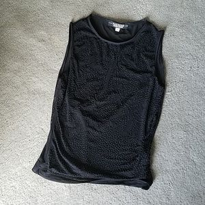 Rampage sleeveless black top, lined.